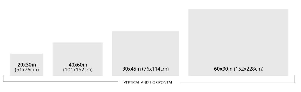 Size Chart Vertical and Horizontal